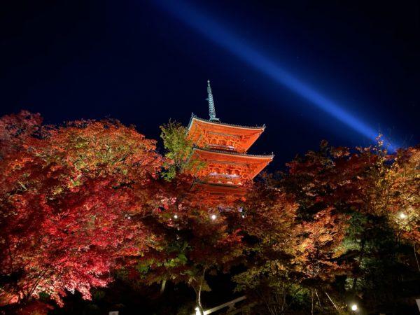 清水寺 夜のライトアップ